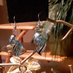 Swirl Glass Earrings